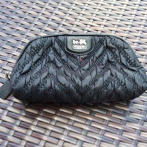 COACH BLACK COSMETIC BAG